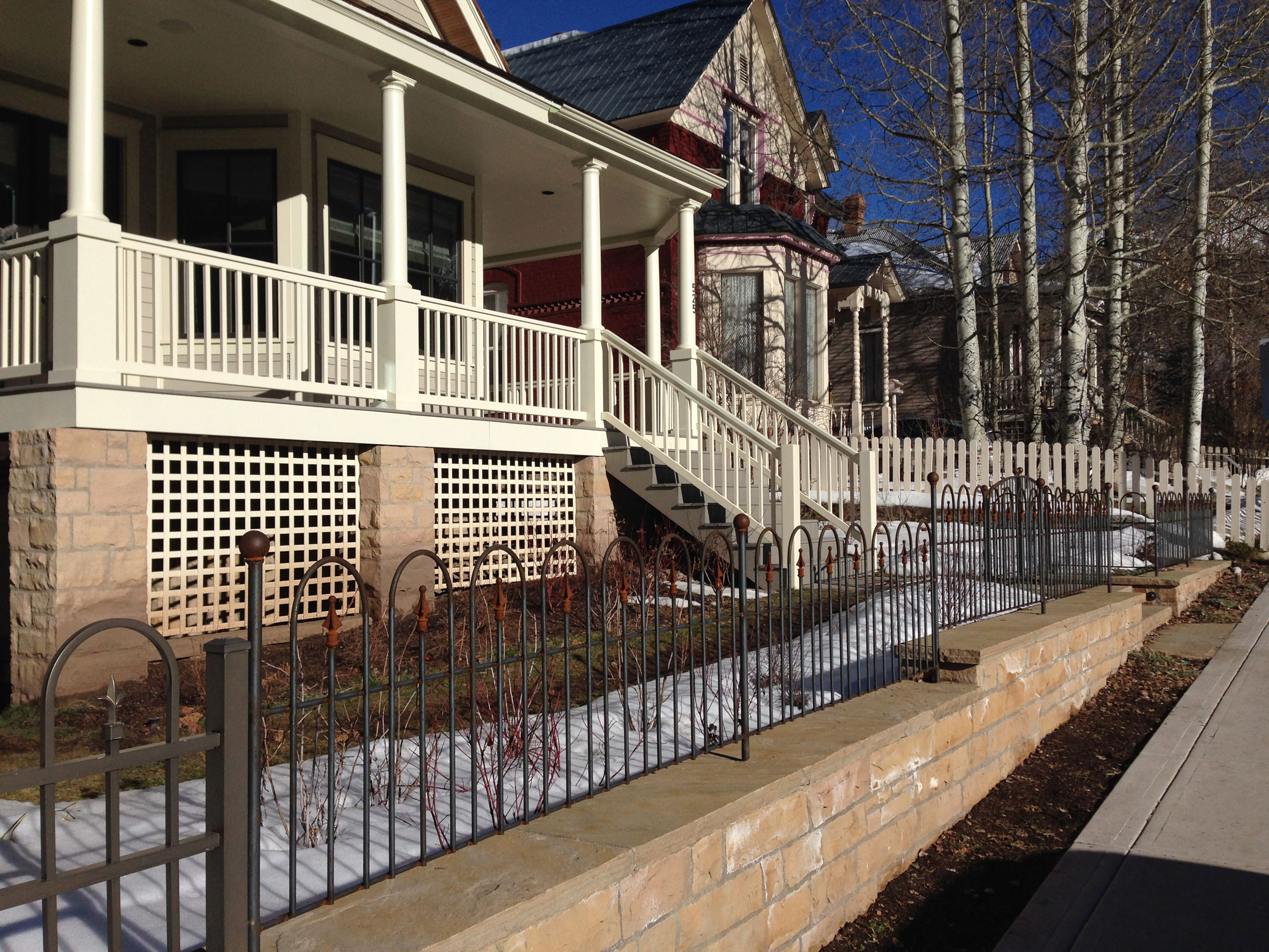 johnson residence—front wall & fence